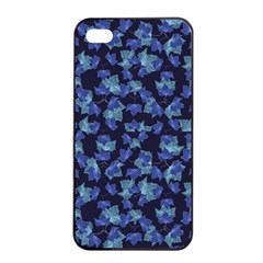 Autumn Leaves Motif Pattern Apple Iphone 4/4s Seamless Case (black) by dflcprints