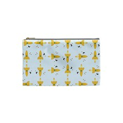Spaceships Pattern Cosmetic Bag (small)  by linceazul