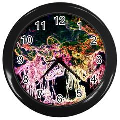 Colors Wall Clocks (black) by Valentinaart