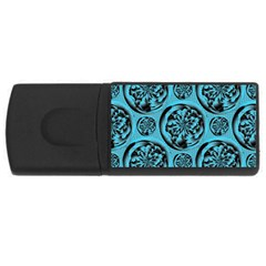 Turquoise Pattern Usb Flash Drive Rectangular (4 Gb) by linceazul