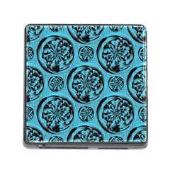 Turquoise Pattern Memory Card Reader (square) by linceazul