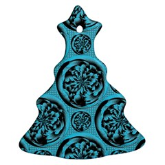 Turquoise Pattern Ornament (Christmas Tree)