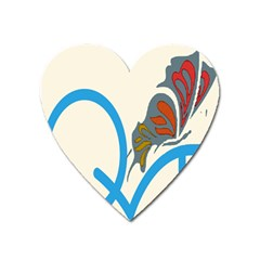 Butterfly Heart Magnet by Mariart