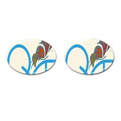 Butterfly Cufflinks (oval) by Mariart