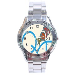Butterfly Stainless Steel Analogue Watch by Mariart