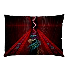 Artistic Blue Gold Red Pillow Case by Mariart