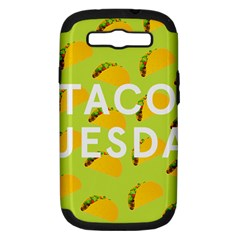 Bread Taco Tuesday Samsung Galaxy S Iii Hardshell Case (pc+silicone) by Mariart