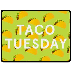 Bread Taco Tuesday Double Sided Fleece Blanket (large)  by Mariart