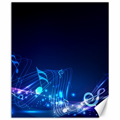 Abstract Musical Notes Purple Blue Canvas 8  X 10  by Mariart