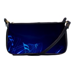Abstract Musical Notes Purple Blue Shoulder Clutch Bags by Mariart