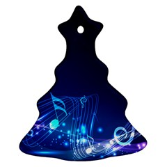 Abstract Musical Notes Purple Blue Christmas Tree Ornament (two Sides) by Mariart