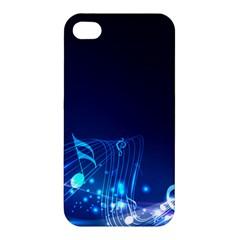 Abstract Musical Notes Purple Blue Apple Iphone 4/4s Hardshell Case by Mariart