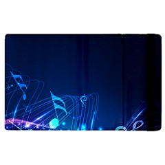 Abstract Musical Notes Purple Blue Apple Ipad 3/4 Flip Case by Mariart