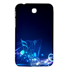 Abstract Musical Notes Purple Blue Samsung Galaxy Tab 3 (7 ) P3200 Hardshell Case  by Mariart