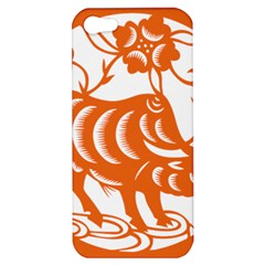 Chinese Zodiac Cow Star Orange Apple Iphone 5 Hardshell Case by Mariart