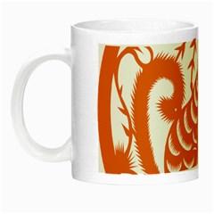 Chinese Zodiac Dog Star Orange Night Luminous Mugs by Mariart