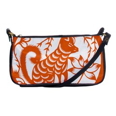 Chinese Zodiac Dog Star Orange Shoulder Clutch Bags by Mariart