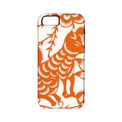 Chinese Zodiac Dog Star Orange Apple Iphone 5 Classic Hardshell Case (pc+silicone) by Mariart