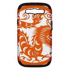 Chinese Zodiac Dragon Star Orange Samsung Galaxy S Iii Hardshell Case (pc+silicone) by Mariart