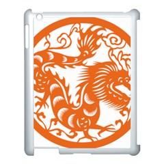 Chinese Zodiac Dragon Star Orange Apple Ipad 3/4 Case (white) by Mariart