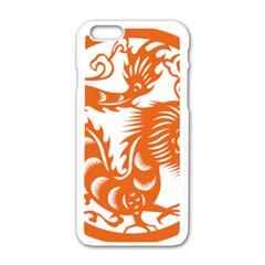 Chinese Zodiac Dragon Star Orange Apple Iphone 6/6s White Enamel Case by Mariart