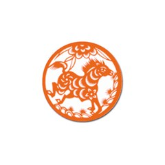 Chinese Zodiac Horoscope Horse Zhorse Star Orangeicon Golf Ball Marker (4 Pack) by Mariart