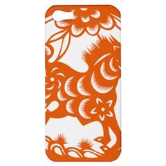 Chinese Zodiac Horoscope Horse Zhorse Star Orangeicon Apple Iphone 5 Hardshell Case by Mariart
