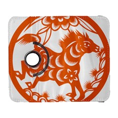 Chinese Zodiac Horoscope Horse Zhorse Star Orangeicon Galaxy S3 (flip/folio) by Mariart