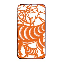 Chinese Zodiac Goat Star Orange Apple Iphone 4/4s Seamless Case (black) by Mariart