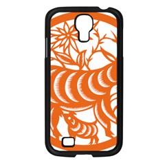 Chinese Zodiac Goat Star Orange Samsung Galaxy S4 I9500/ I9505 Case (black) by Mariart