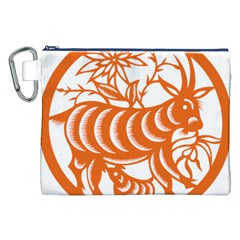 Chinese Zodiac Goat Star Orange Canvas Cosmetic Bag (xxl) by Mariart