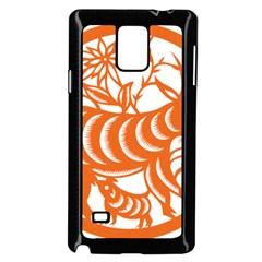 Chinese Zodiac Goat Star Orange Samsung Galaxy Note 4 Case (black)