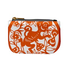 Chinese Zodiac Horoscope Monkey Star Orange Mini Coin Purses by Mariart
