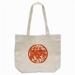 Chinese Zodiac Horoscope Pig Star Orange Tote Bag (cream) by Mariart