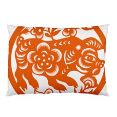 Chinese Zodiac Horoscope Pig Star Orange Pillow Case (two Sides) by Mariart