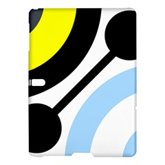 Circle Line Chevron Wave Black Blue Yellow Gray White Samsung Galaxy Tab S (10 5 ) Hardshell Case  by Mariart