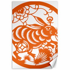 Chinese Zodiac Horoscope Rabbit Star Orange Canvas 20  X 30   by Mariart