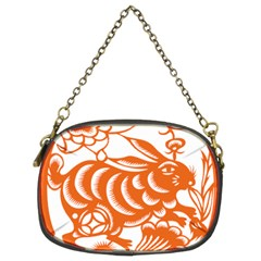 Chinese Zodiac Horoscope Rabbit Star Orange Chain Purses (two Sides)  by Mariart