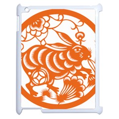 Chinese Zodiac Horoscope Rabbit Star Orange Apple Ipad 2 Case (white) by Mariart