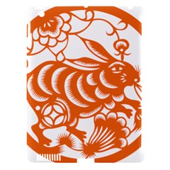 Chinese Zodiac Horoscope Rabbit Star Orange Apple Ipad 3/4 Hardshell Case (compatible With Smart Cover) by Mariart