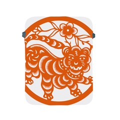 Chinese Zodiac Signs Tiger Star Orangehoroscope Apple Ipad 2/3/4 Protective Soft Cases by Mariart