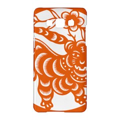 Chinese Zodiac Signs Tiger Star Orangehoroscope Samsung Galaxy A5 Hardshell Case  by Mariart