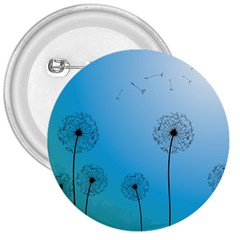 Flower Back Blue Green Sun Fly 3  Buttons by Mariart