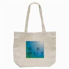 Flower Back Blue Green Sun Fly Tote Bag (cream) by Mariart