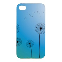 Flower Back Blue Green Sun Fly Apple Iphone 4/4s Hardshell Case by Mariart