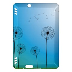 Flower Back Blue Green Sun Fly Kindle Fire Hdx Hardshell Case by Mariart