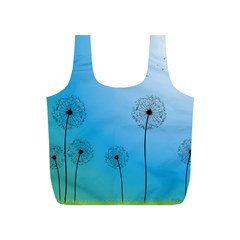 Flower Back Blue Green Sun Fly Full Print Recycle Bags (s)  by Mariart
