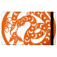 Chinese Zodiac Horoscope Snake Star Orange Apple Ipad 3/4 Flip Case by Mariart