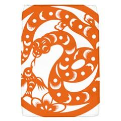 Chinese Zodiac Horoscope Snake Star Orange Flap Covers (s)  by Mariart