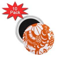 Chinese Zodiac Horoscope Zhen Icon Star Orangechicken 1 75  Magnets (10 Pack)  by Mariart